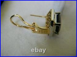 Lgl 14k Yellow And White Gold And Diamond Ring, Pendant And Earrings