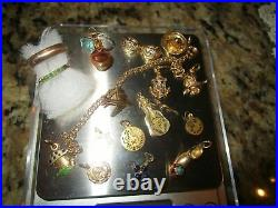 Lot 18K Gold Jewelry, Ring, Curb Necklaces, Pendants Scrap 55 Grams