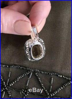 Lot Citrine Sterling Rings Earrings Pendant Judith Ripka Roping Gold Accent