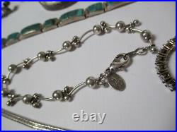 Lot Ring Necklace Pendant Earring Bracelet Asbtract Sculpture Sterling Silver
