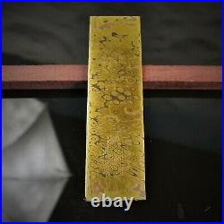 Mokume Gane Big Blank 6,5 mm. Hand forge for crafting, unique pattern