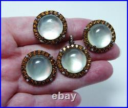 Moonstone Diamond 18K Gold Earrings Ring Pendant Set Designer Zoccai