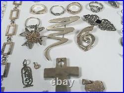 Over 300g 925 Silver Jewellery Earrings Necklace Bracelet Rings Pendants Job Lot