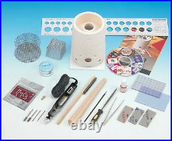 PMC Deluxe Silver Clay Set Jewelry Starter Kit with Kiln Etcher DVD & Tools