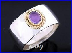 Real 9ct Solid Gold Natural Amethyst Earrings, Ring & Bead /Pendant Matching set