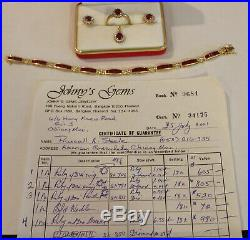 Ruby And Diamond Set Ring, Earrings, Pendant And Bracelet (jg001)
