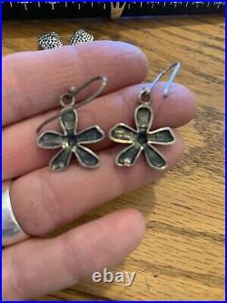 Silpada Retired Sterling Silver Pendant/earring/ring Hammered Flower Set Rare