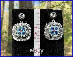 Sincerely Southwest Flower Inlay Pendant Ring Earrings Cuff Set Carolyn Pollack