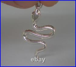 Snake Silver Set Bracelet Pendant Ring Earrings Minoan Crete Symbol of Healing