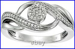 Sterling Silver Diamond Ring Size 7, Earrings, And Pendant Necklace Jewelry Set