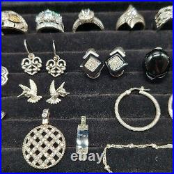 Sterling Silver Mixed Jewelry Lot Fine CZ 92.4 grams