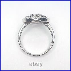 Stunning Blue / White Diamond, 14K White Gold Ring, Pendant, Earring Set