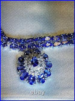 TANZANITE Necklace & Matching Ring & Earrings