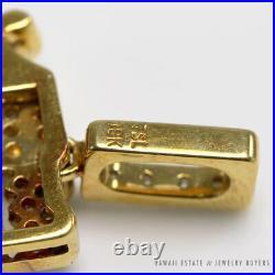 Tsl Jewellery Year Of Dragon 4.5ctw Diamond & Jade 18ky Earring And Pendant Set
