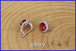 Turkish Handmade Ruby Silver 925 Set Ring Earring Bracelet Pendant Ring