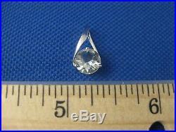 Vintage 14k White Gold Aquamarine Earring Pendant Ring Size 5 1/2 Set