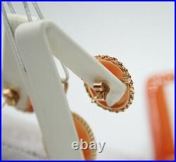 Vintage 14k Yellow Gold Cameo Ring, Earrings & Pendant Set