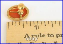 Vintage Beautiful 14k Yellow Gold 585 Cameo Single Earring For Ring Or Pendant