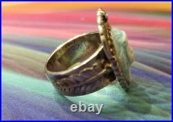 Vintage Carolyn Pollack Carlisle Sterling Cameo Brooch Pendant Ring Earrings Set