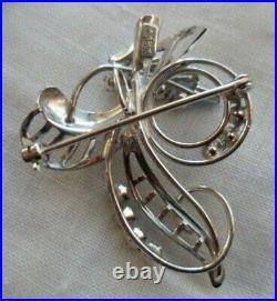 Vintage Jewellery Sterling Silver Brooch Pendant Earring Ear Ring Jewelry Set