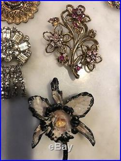 Vintage Jewelry Lot Bargain Brooches Pendants Earrings Rings Bracelet Necklace