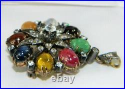 Vtg Thai Princess Harem Ring Screw Earrings & Pin / Pendant Set Rare Htf C Video