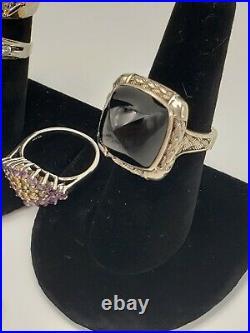 WHOLESALE Sterling Silver 925 Jewelry Lot 6pc Gemstone Rings, Earrings, Pendant