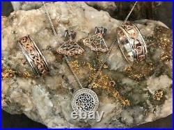 Welsh Clogau Silver & Rose Gold Ring Earrings & Pendant Bundle £547 OFF! SIZE U