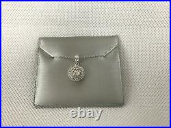 Zales Halo Style Diamond Accent Necklace And Earring Set $240 Retail New